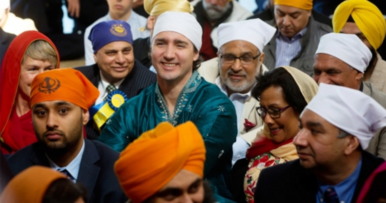 Justin Trudeau at the Vancouver Vaisakhi Parade